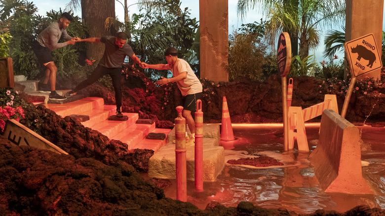 Contestants compete in Netflix game show Floor is Lava