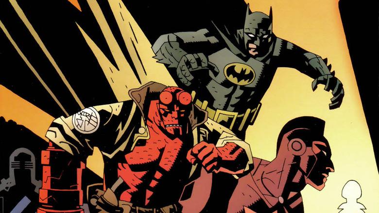 Hellboy Batman crossover cover