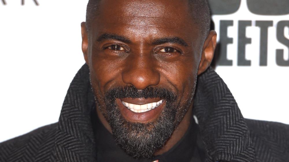 Idris Elba smiling