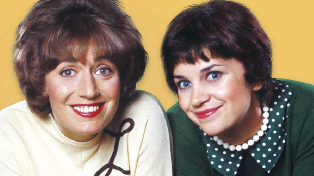 Laverne and Shirley smiling