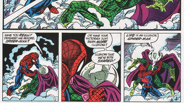 Spidey fighting Mysterio