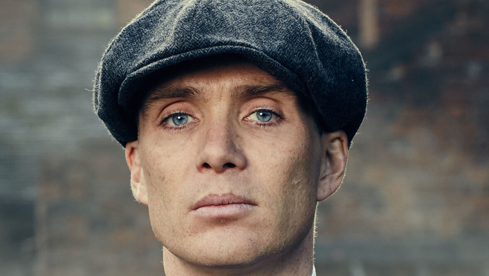 Thomas Shelby staring ahead