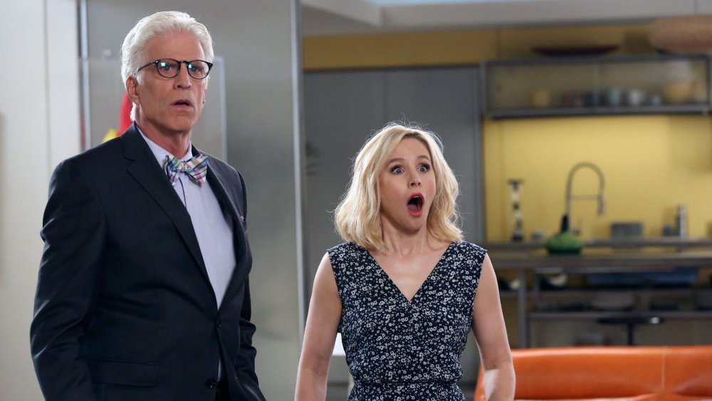 Ted Danson and Kristen Bell on The Good Place