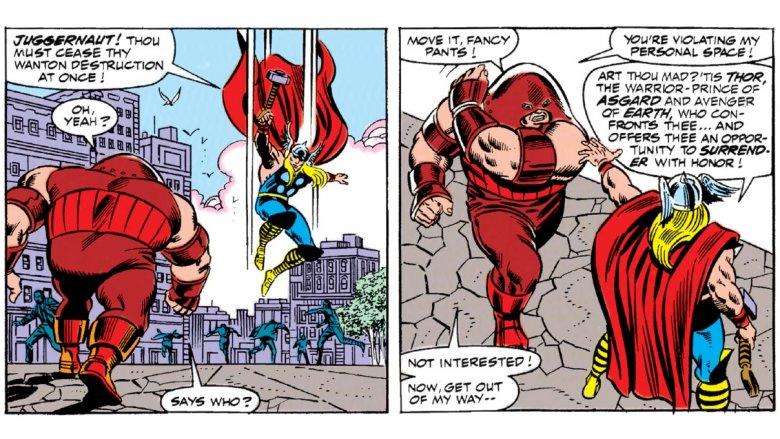 Juggernaut vs Thor