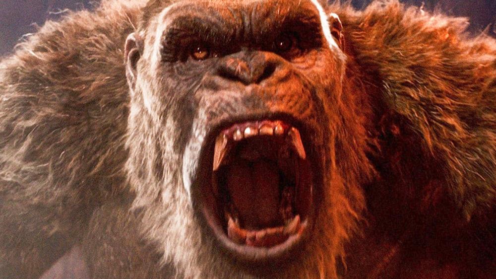 King Kong roaring