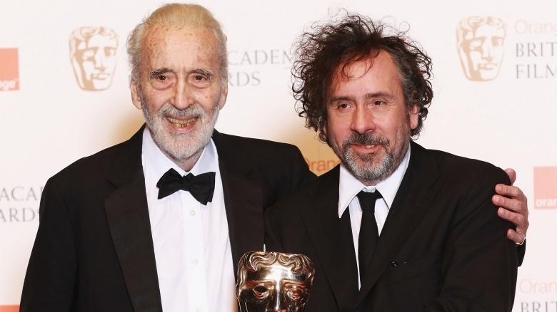 Christopher Lee and Tim Burton