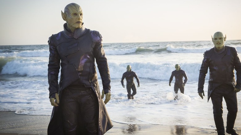 The skrulls from the Captain Marvel trailer