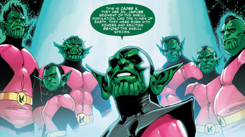 The X-Men confronted with mutant Skrulls