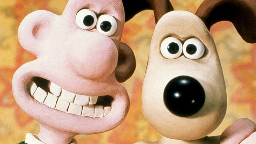 Wallace and Gromit smiling