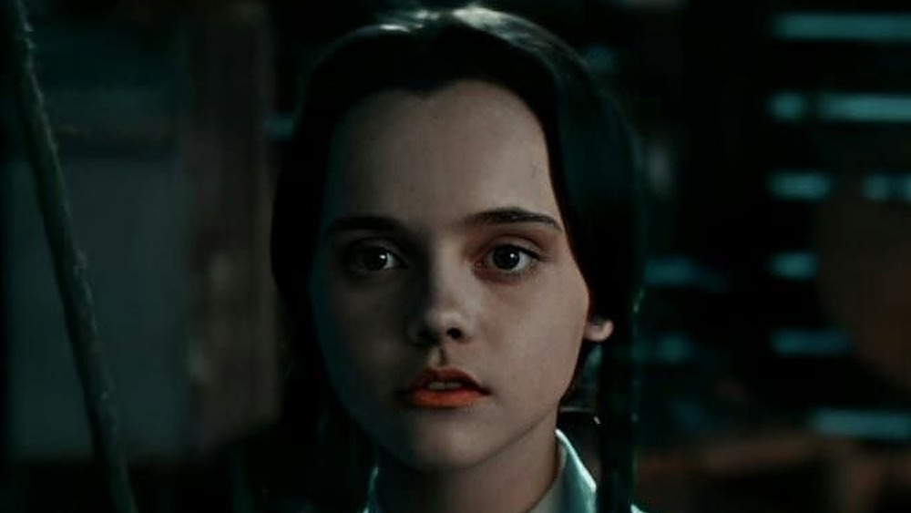 Christina Ricci's Wednesday scowling