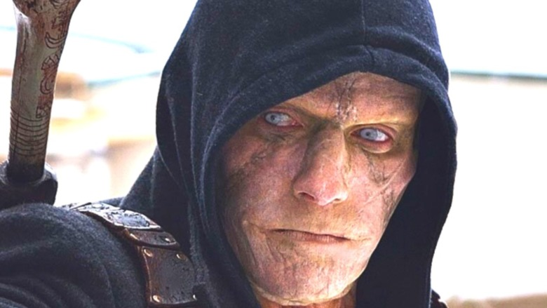 The Strain hooded vampire in close-up