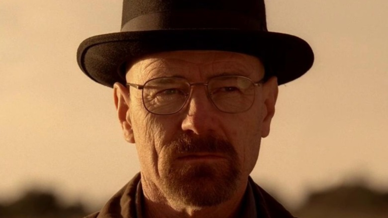 Walter White wearing a hat
