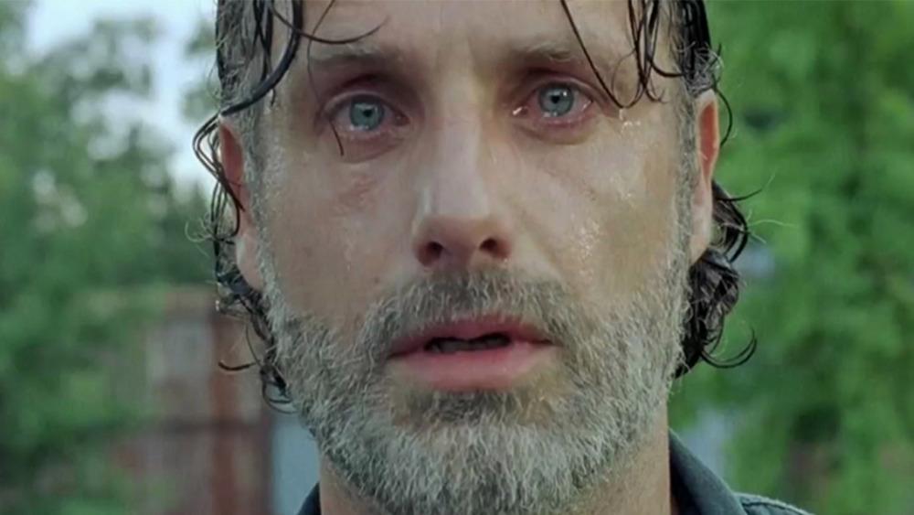 Rick Grimes in tears