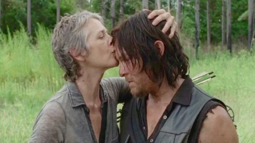 Norman Reedus as Daryl Dixon and Melissa McBride at Carol Peletier in AMC's The Walking Dead