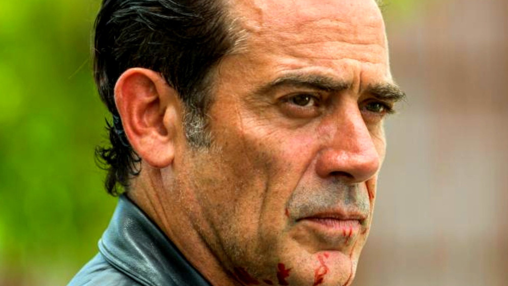 Negan with blood on his chin
