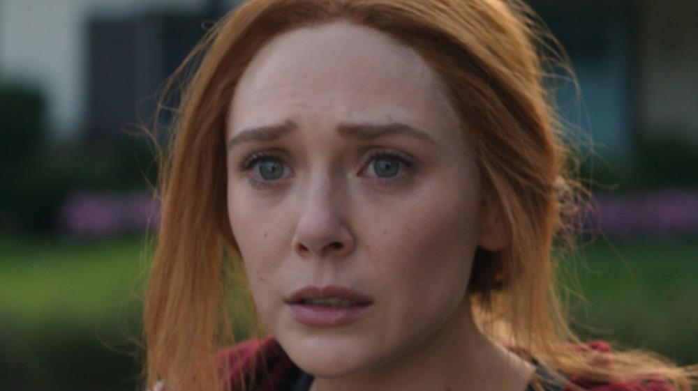 Wanda looks sad on WandaVision