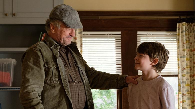 Robert De Niro and Oakes Fegley in The War with Grandpa