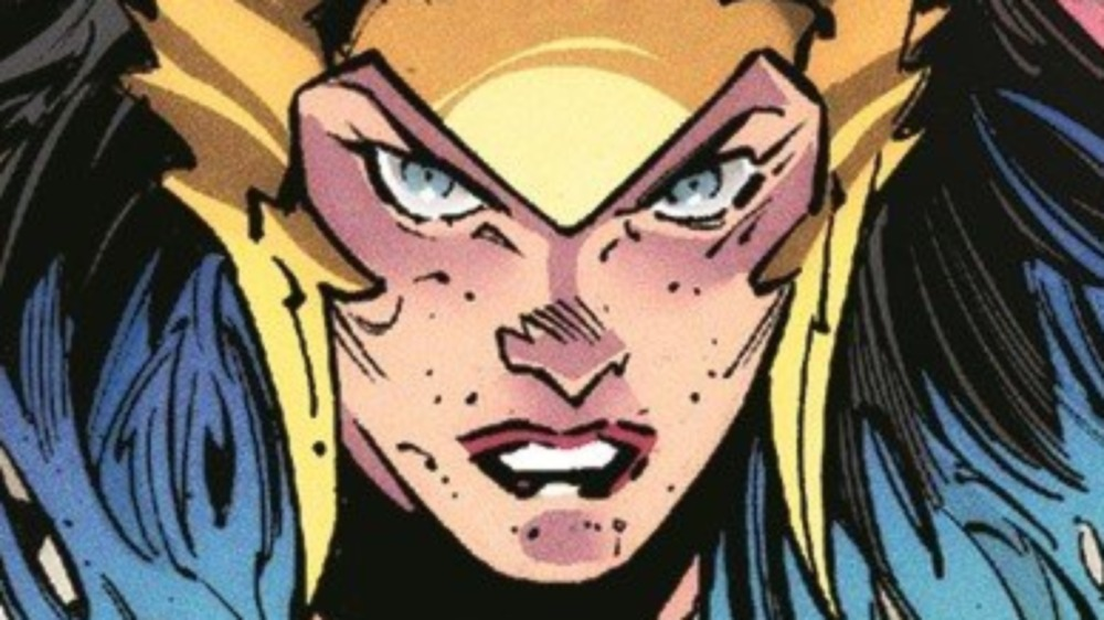 Wonder Woman glaring