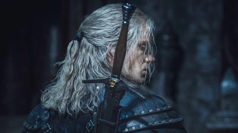 Geralt looking over shoulder