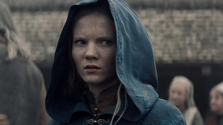 Freya Allan as Ciri on The Witcher