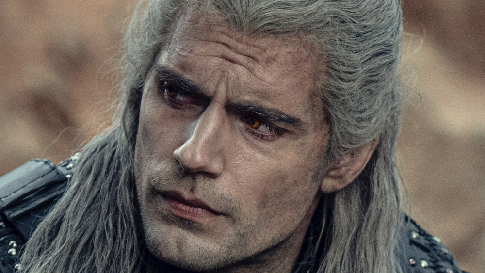 Geralt of Rivia looking to the left