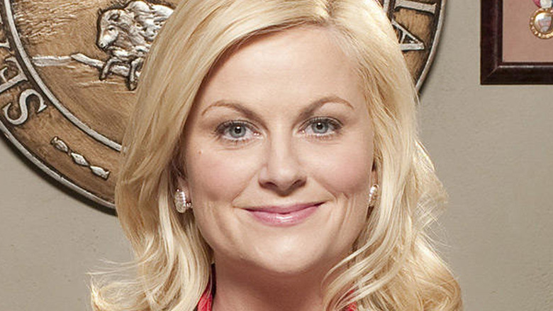 Amy Poehler in close-up as Leslie Knope