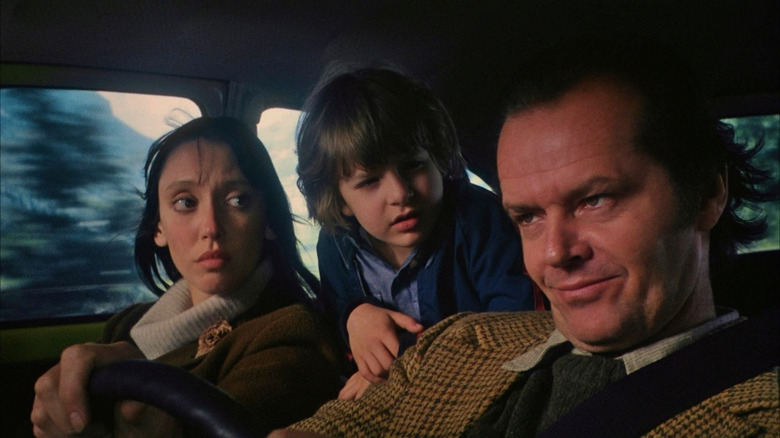 Shelley Duvall, Danny Lloyd, and Jack Nicholson in The Shining