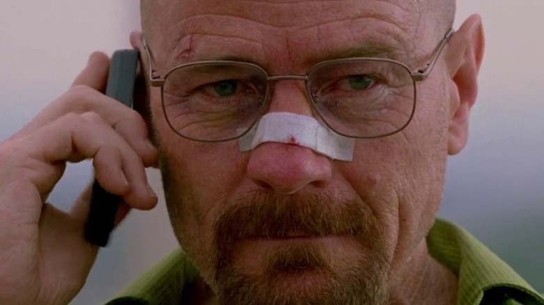 Walter White talks on the phone