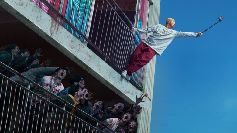 Escape from the zombie apocalypse in #Alive
