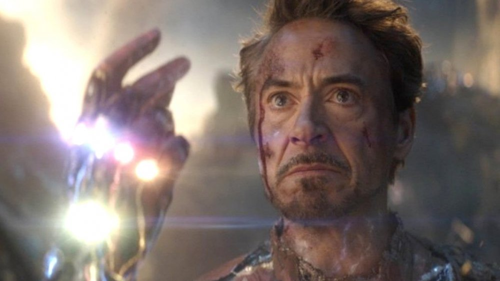 Tony Stark as Iron Man in Avengers Endgame