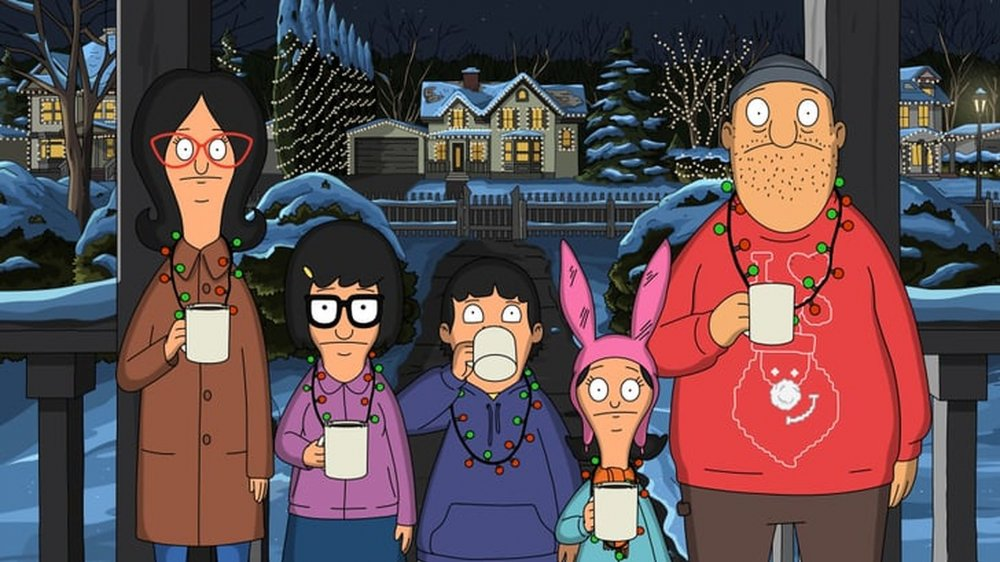 Belchers and Teddy Christmas caroling