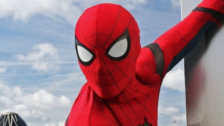 Spider-Man Far From Home suit close-up