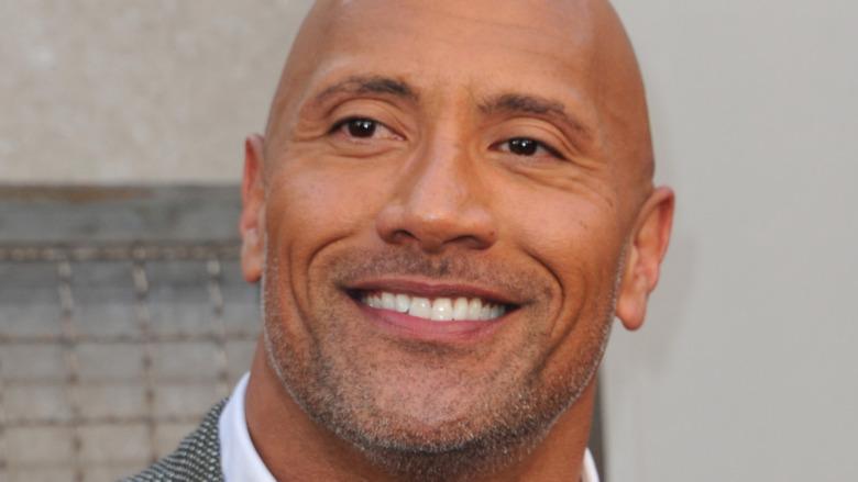 "Dwayne ""The Rock"" Johnson smiling"