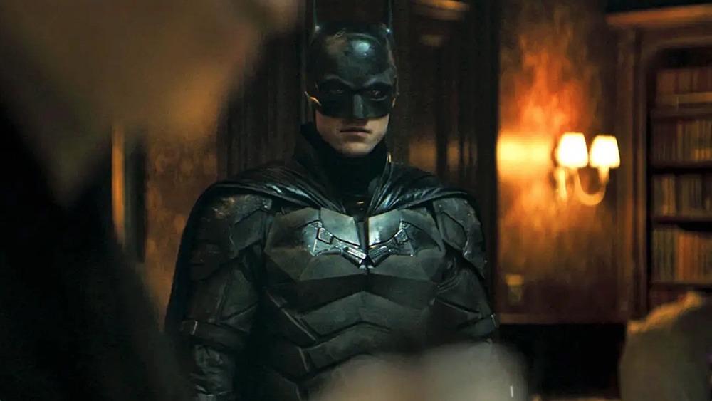 Batman scowling