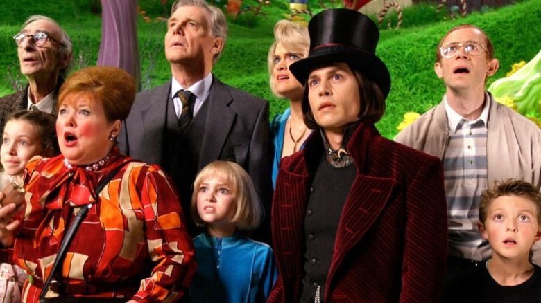 The cast of Charlie and the Chocolate Factory