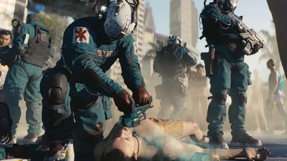 Character trying to revive another in Cyberpunk 2077