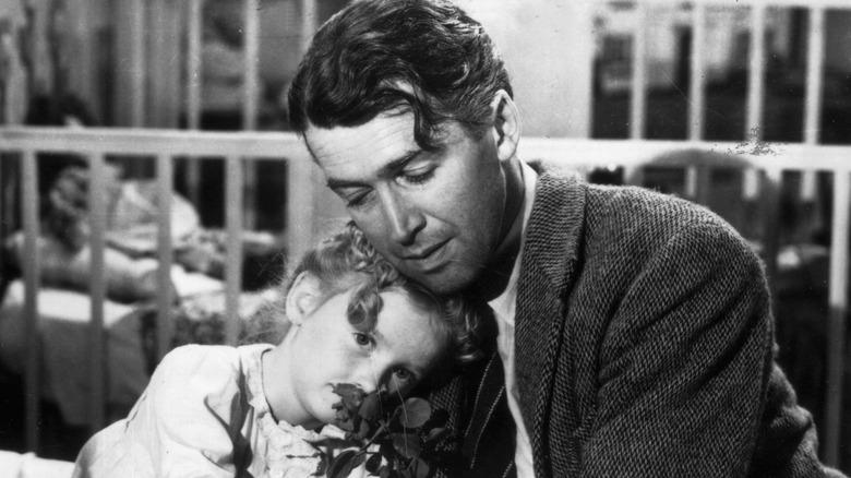 Jimmy Stewart as George Bailey in It's a Wonderful Life