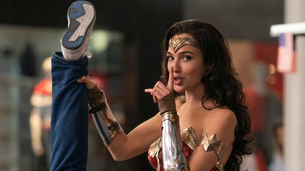 Wonder Woman holding crook