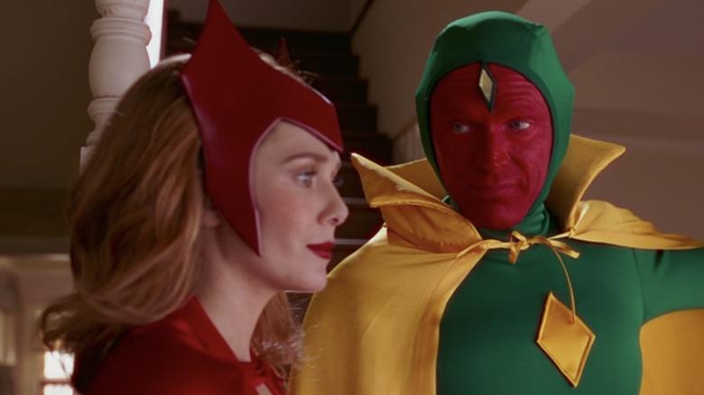 Elizabeth Olsen and Paul Bettany in WandaVision