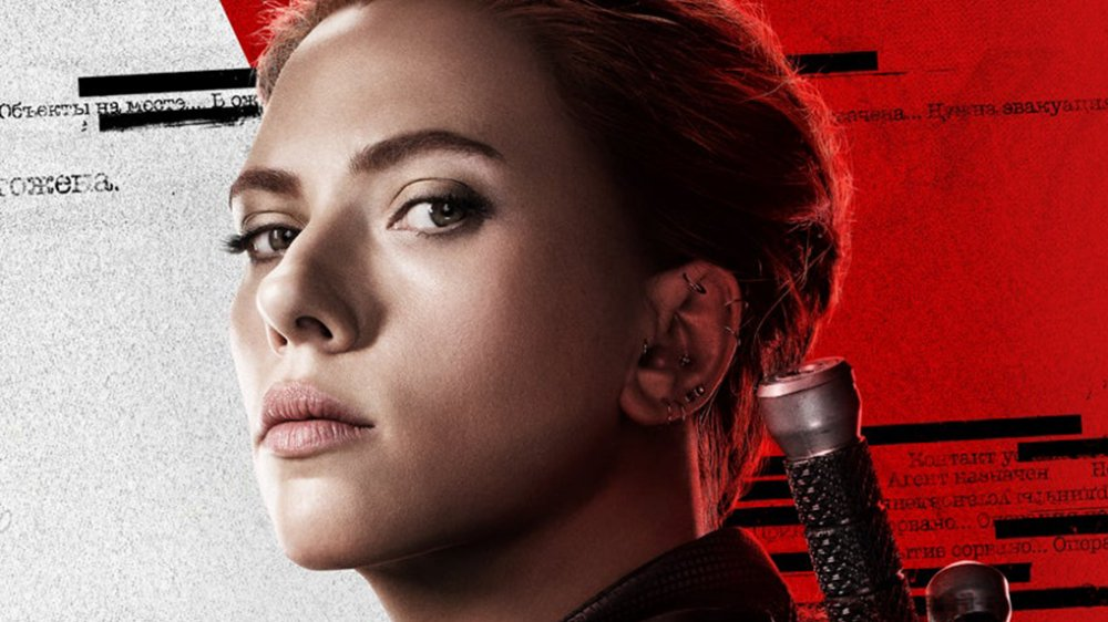 Scarlett Johansson in the promo poster for Black Widow