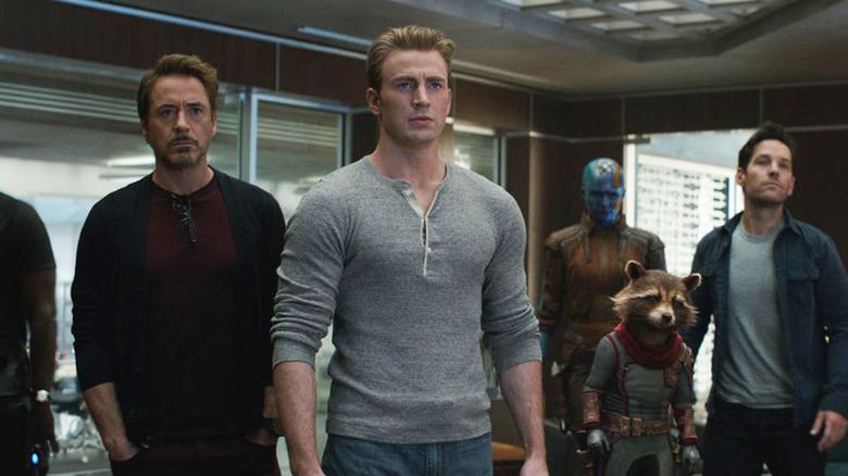 Avengers Endgame Tony Stark Steve Rogers Rocket Scott Lang