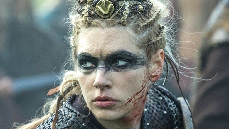 Lagertha blood on face
