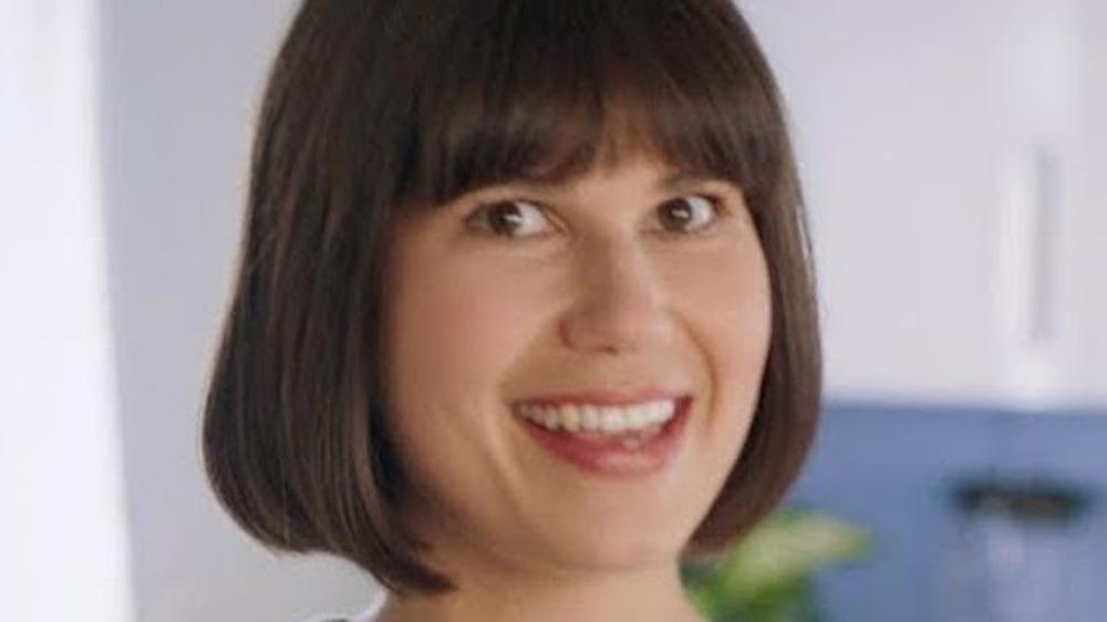 Mercari ad woman smiling