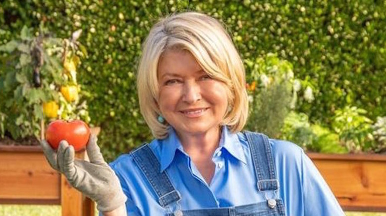 Martha Stewart with tomato