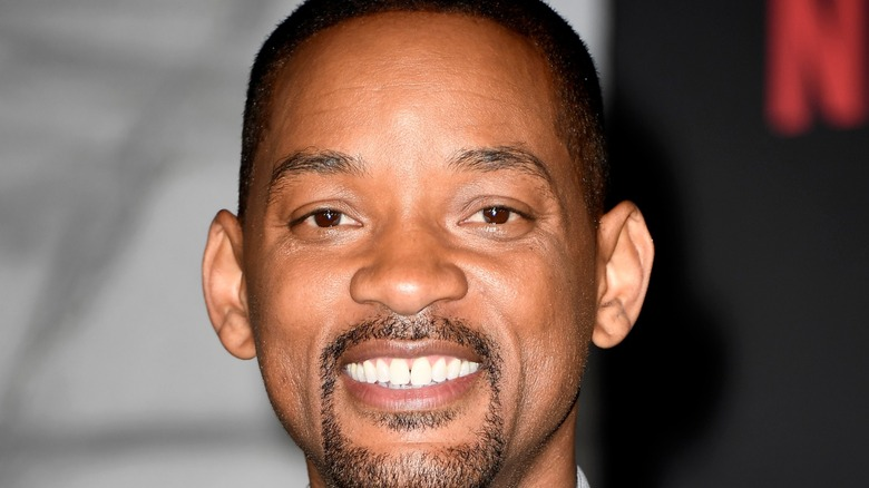 Will Smith smiling red carpet