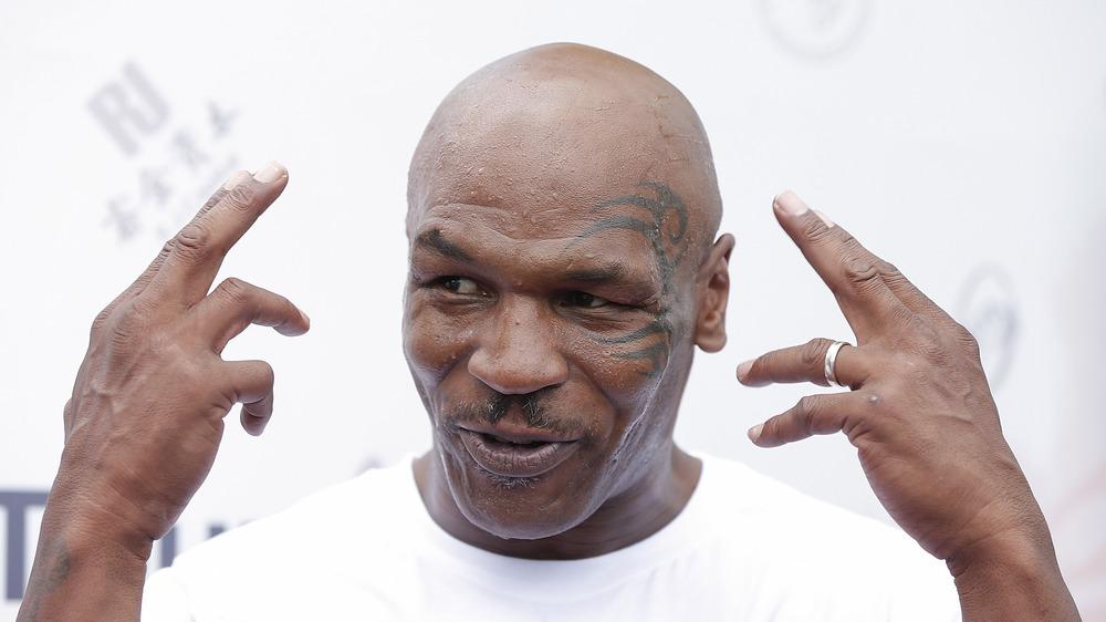 Mike Tyson amused