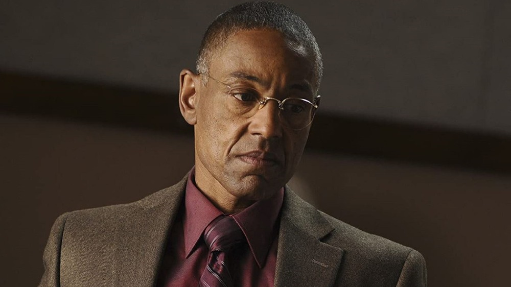 Gus Fring wearing a suit