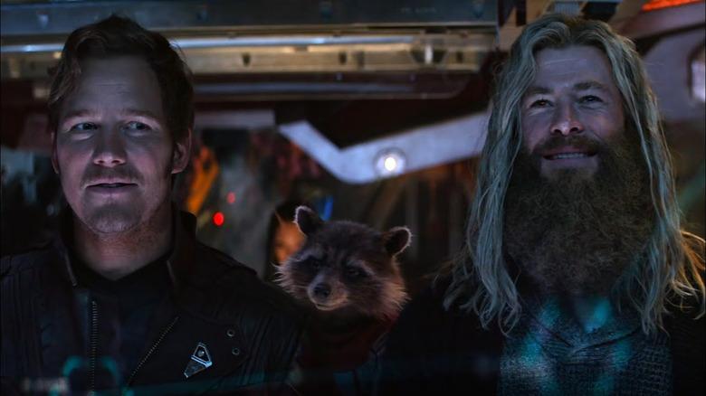 Star Lord Thor Rocket Raccoon Endgame