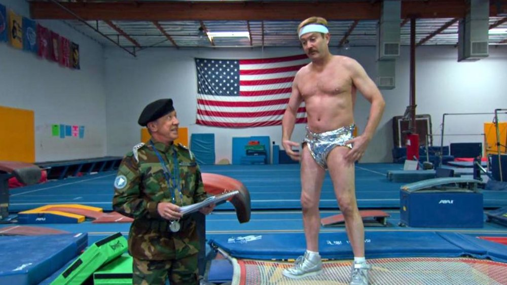 Tim Allen and Thomas Lennon as Commander Lance and Lieutenant Jim Dangle in Quibi's Reno 911!