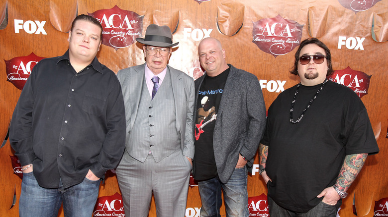 "Corey Harrison, Richard Harrison, Rick Harrison, Austin Lee ""Chumlee"" Russell from Pawn Stars"